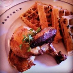 Chicken and waffles at Bouchon | Yelp