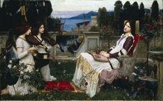 John William Waterhouse, 'Saint Cecilia,' 1895
