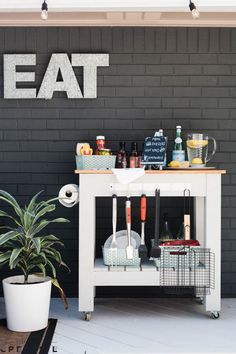 Add some mobility and organization to your outdoor grilling station with this DIY grill cart. Get the full project details at lowes.com/theweekender.