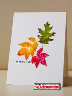 Card by Maria using Trendy Leaves and Holiday Artsy