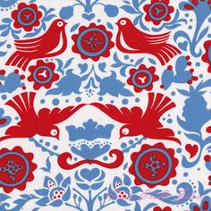 Alexander Henry Folklorico LaPaloma Red [AH-DE7593-C] - $10.45 : Pink Chalk Fabrics is your online source for modern quilting cottons and sewing patterns., Cloth, Pattern + Tool for Modern Sewists
