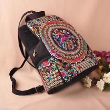 Charm Embroidery Ethnic Women Girls Backpack Chinese Nation Wind Canvas Back Bag