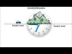 Kloktijden flitsen met hele, halve uren, kwartieren en tien minuten deel 2 - YouTube