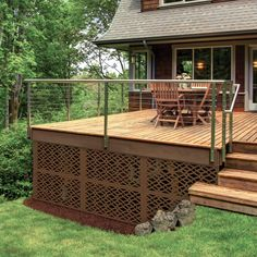 Allure Decorative Sheeting Deck Skirting Freedom Outdoor Living for Lowes Cool Deck, Diy Deck, Decorative Screen Panels, Deck Skirting, Outdoor Christmas Decorations, Outdoor Decor, Outdoor Deck Decorating, Deck Railings, Railing Ideas