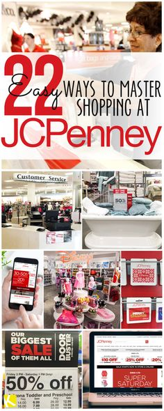Save time and money at JCPenney. From how to use JCPenney coupons to the best things to buy. JCPenney is a deal shoppers gold mine! You can save a bundle of money at this much overlooked retailer! Shopping Coupons, Bargain Shopping, Shopping Hacks, Shopping Deals, Cheap Shopping, Grocery Coupons, School Shopping, Ways To Save Money, Money Tips