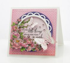 Gorgeous card created by  Peet Roeven using Penny Black for the Simon Says Stamp Blog.