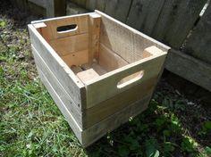 10 inch Pallet Wood Planter Box Crate Flower Pot Patio Yard Garden Handmade Primitive Spring Crate