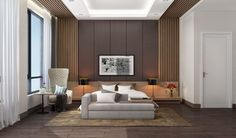 25 Beautiful Examples Of Bedroom Accent Walls That Use Slats To Look Awesome