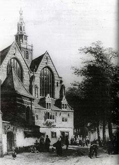 Originele zakkendragershuisje bij de Sint-Janskerk 1861