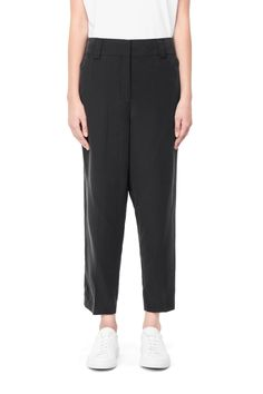Weekday Cupro Loop Trousers in Black www.constantcontradiction.com
