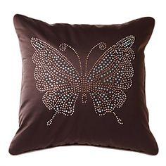 (Entrepôt UE) Enveloppe de coussin / taie d'oreiller velours papillon