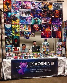 Vendor Booth, Artist Alley, Art Boards, Comic Art, Photo Wall, Teddy Bear, Artists, Display, Gallery