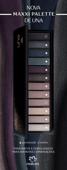 Conheça a Maxxi palette de sombras nudes intensos. São 12 tons com acabamentos matte e perolizado para você destacar seu olhar com infinitas combinações.