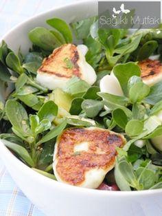 Kızarmış Antep  Peynirli, Ekşi  Erik Soslu  Pirpirim Salatası