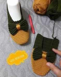 Best 12 my beautiful booties ( Crochet Slipper Boots, Crochet Sandals, Knitted Booties, Knitted Slippers, Baby Knitting Patterns, Crochet Patterns, Crochet Baby, Knit Crochet, Crochet Slipper Pattern