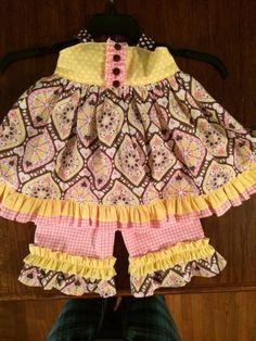 Sophia's Open Back Ruffled Baby Dress