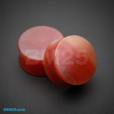 Red Agate Stone Double Flared Ear Gauge Plug by BM25Plugs on Etsy