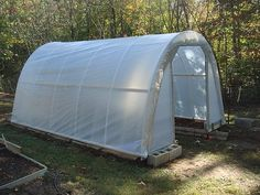 "How to build a ""Hoop House"" style greenhouse."
