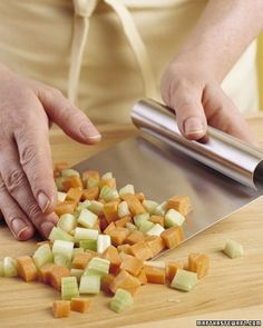 Kitchen Helper - Don't leave that bench scraper in a drawer, waiting for your next baking project. In the same way that it efficiently removes bits of dough from a work surface, it can transport every last chopped vegetable from the cutting board to the prep bowl in one pass.