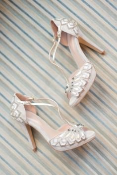 Art Deco inspired embellishes T-Bar sandals from The Cancello Collection by Emmy…