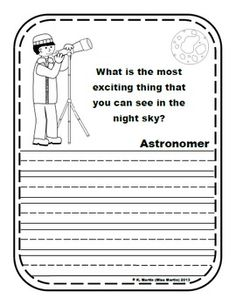 I am a Scientist!  Writing Prompts