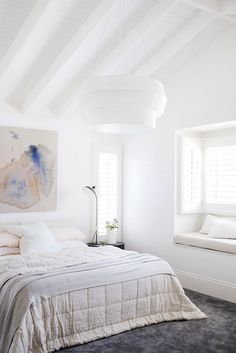 Inspired by these gorgeous soft tones and lovely textures, which compliments this space so amazingly. Guest Bedrooms, Master Bedroom, Bedroom Decor, Linen Sheets, Beautiful Bedrooms, Home Goods, Living Room, Interior, Chameleon