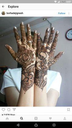 this is Prettiest Full Backhand Rose Bridal Mehndi Khafif Mehndi Design, Latest Arabic Mehndi Designs, Floral Henna Designs, Back Hand Mehndi Designs, Mehndi Designs Book, Latest Bridal Mehndi Designs, Mehndi Designs For Girls, Unique Mehndi Designs, Wedding Mehndi Designs