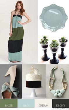 Color Palette: Moss, Rain, Cream and Ebony | Flights of Fancy