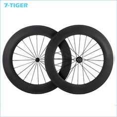 7-TIGER bike  carbon 88mm Clincher Wheels Carbon bicycle Wheelset for Road Bike Powerway Hub 700c 23mm width #Affiliate