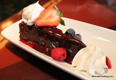 Chocolate Espresso Torte at The Turf Club Bar and Grill at Saratoga Springs Resort