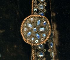 Detail of button of Dazzling French Court Suit, 1750-1775, silk, metallic thread and cord, sequins