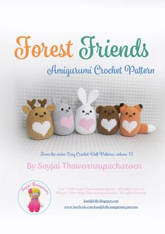 Amigurumi Crochet Patterns by Sayjai Thawornsupacharoen.