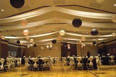 Cultural Hall Wedding Decorations on Lds Gym Cultural Hall Ceiling . Gym Wedding Reception, Plan My Wedding, Wedding Receptions, Reception Decorations, Wedding Ideas, Reception Ideas, Event Ideas, Wedding Stuff, Prom Ideas