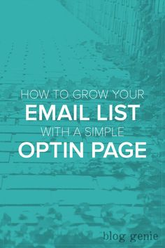 How to Grow Your Email List with a Simple Optin Page - Optin pages are one of the best ways to grow your email list. Learn the 6 parts of a successful optin page, how to measure conversions & ways to drive traffic.