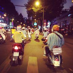 Saigon After Dark // Vietnam Vespa Adventures http://www.vietnamvespaadventures.com/tours/saigon-after-dark