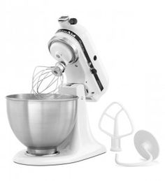 Price: (as of – Details) Make up to 6 dozen cookies in a single batch with the KitchenAid classic Plus Series 5 quart Tilt-Head stand mixer. This mixer also features 10 speeds to thoroughly [. Kitchenaid Artisan Stand Mixer, Artisan Mixer, Small Kitchen Appliances, Kitchen Aid Mixer, Kitchen Countertops, Kitchenaid Classic Plus, Wire Whisk, Stainless Steel Bowl, Head Stand