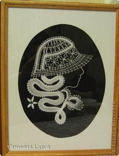 Картина панно рисунок Плетение на коклюшках Дамы бальзаковского возраста Нитки фото 2