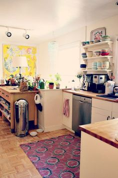 Kitchen ..love the bowls over the stove