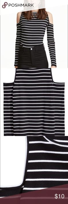 NWOT Cold shoulder top H&M cold should ribbed striped top! H&M Tops