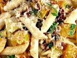 Penne with Butternut Squash and Goat Cheese serve with oven baked chicken breast. Penne with Butternut Squash and Goat Cheese serve with oven baked chicken breast. Goat Cheese Pasta, Goat Cheese Recipes, Cheese Food, Oven Baked Chicken, Baked Chicken Breast, Gnocchi, Butternut Squash Pasta, Roasted Butternut, Squash Salad