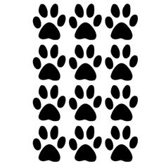 10 Paw Print Stickers Voiture Wall Stickers Decals Graphics Chat Chien Argent