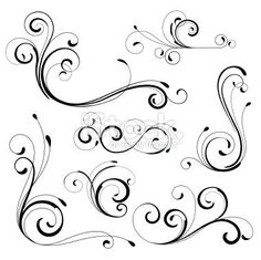 scroll applique patterns printable traceable | Scroll Saw Patterns To Printable | Scroll designs Royalty Free Stock ...