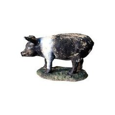 Shop decorative objects at Chairish, the design lover's marketplace for the best vintage and used furniture, decor and art. Fantasy Rooms, Decorative Objects, Signage, Concrete, Lion Sculpture, Outdoor Furniture, Statue, Antiques, Pigs