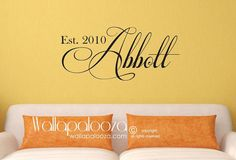 Family Name Monogram  Family Room Wall Decal by WallapaloozaDecals, $32.00