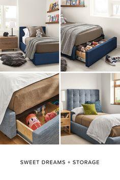Big Boy Bedrooms, Cool Kids Bedrooms, Girls Bedroom, Storage Beds, Kids Storage, Hidden Storage, Boys Room Decor, Girl Room, Room Design Bedroom