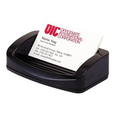 Officemate OIC 2200 Business Card/Clip Holder -