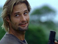 "Josh Holloway. This is a classic Sawyer face. I can so see him sayin something like ""catcha later freckles""  but to me.. I have lots of freckles"