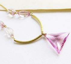 Hey, I found this really awesome Etsy listing at http://www.etsy.com/listing/161076160/gemstones-necklace-light-pink-quartz