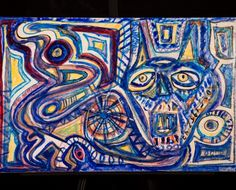 Mixed Media | Pussy Blues  | Original painting by artist Daniel Aaron Schwartz