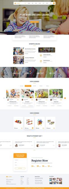 Academ is clean and modern design PSD teplate for #college and #education services website with 4 homepage layouts and 40 layered PSD pages to live preview & download click on Visit  #psdmockups